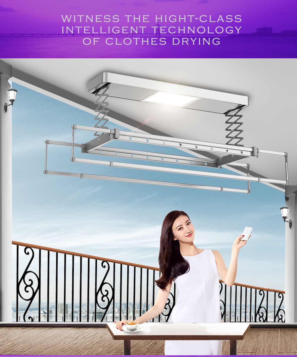 Electric Clothes Drying Rack Hanger