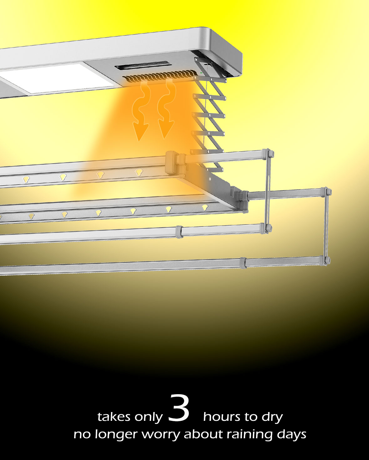 automatic clothes drying rack with remote control and drying
