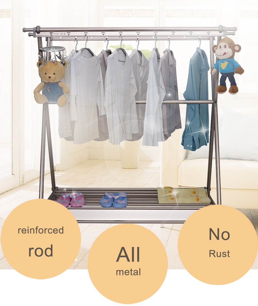 ceiling mounted clothing rack