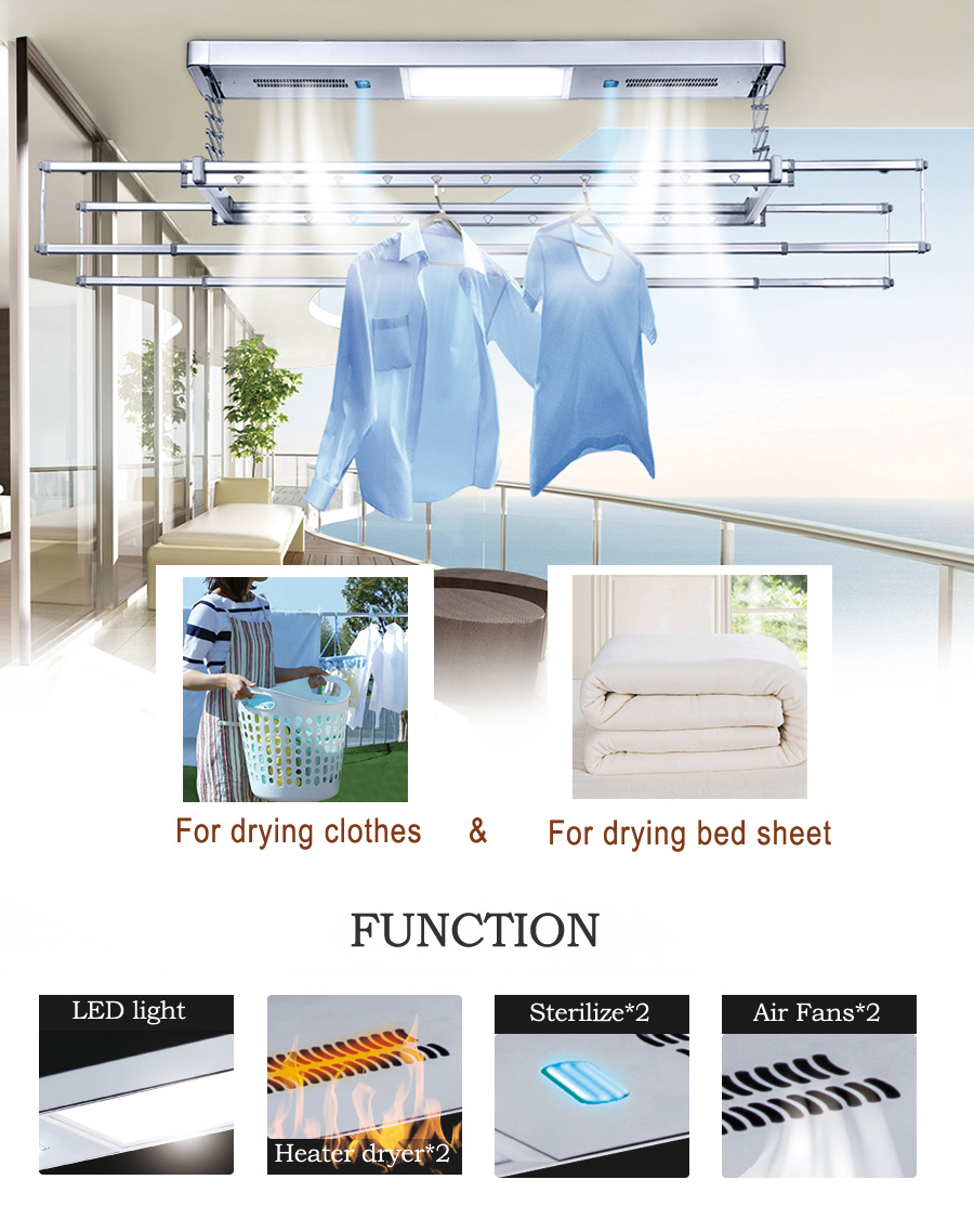 electric clothes rack for drying